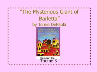 """The Mysterious Giant of Barletta"" by Tomie DePaola"