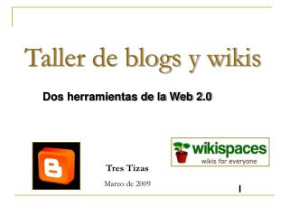 Taller de blogs y wikis