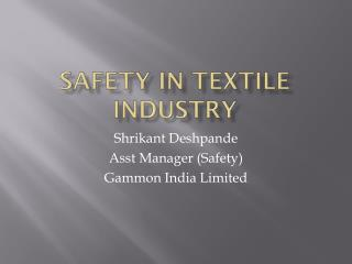 Safety in textile Industry