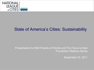State of America's Cities: Sustainability