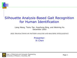 Silhouette Analysis-Based Gait Recognition for Human Identification