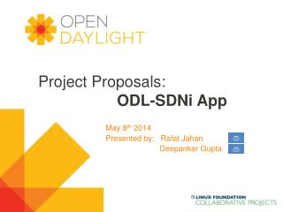 Project Proposals: ODL-SDNi App