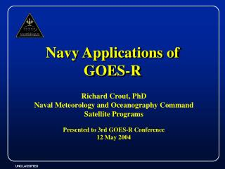 Navy Applications of GOES-R