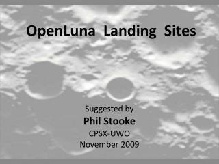 OpenLuna  Landing  Sites