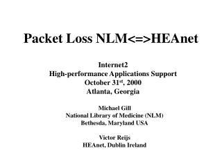 Packet Loss NLM<=>HEAnet