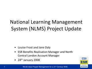 National Learning Management System (NLMS) Project Update