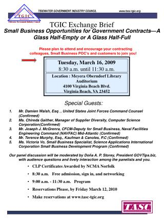 Small Business Opportunities for Government Contracts—A Glass Half-Empty or A Glass Half-Full