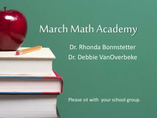 March Math Academy