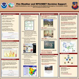 Fire Weather and WFO/IMET Decision Support
