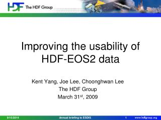 Improving the usability of HDF-EOS2 data