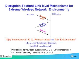 Disruption-Tolerant Link-level Mechanisms for  Extreme Wireless Network  Environments