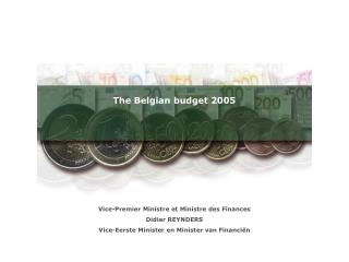 The Belgian budget 2005