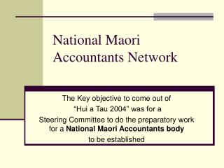 National Maori Accountants Network
