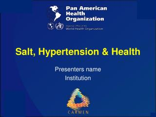 Salt, Hypertension & Health