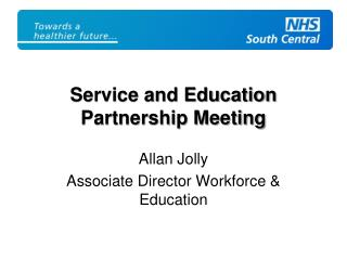 Service and Education Partnership Meeting