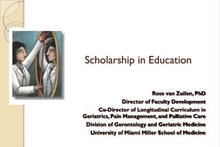 Scholarship in Education