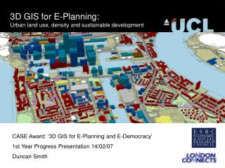 3D GIS for E-Planning: Urban land use, density and sustainable development