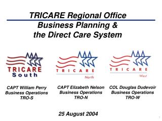 TRICARE Regional Office Business Planning &  the Direct Care System