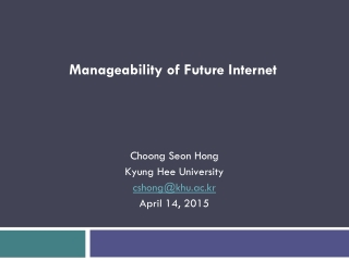 Manageability of Future Internet
