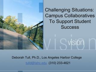 Challenging Situations:  Campus Collaboratives To Support Student Success