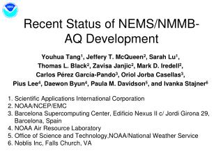Recent Status of NEMS/NMMB-AQ Development