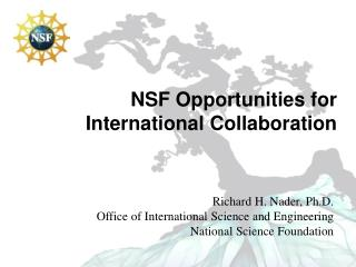 NSF Opportunities for International Collaboration