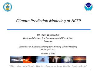 Climate Prediction Modeling at NCEP