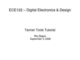 ECE122 – Digital Electronics & Design