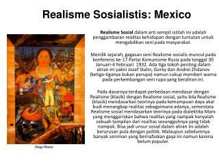 Realisme Sosial istis: Mexico