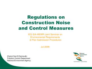Regulations on  Construction Noise  and Control Measures