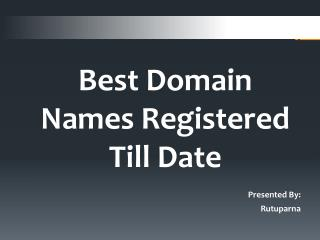 Best Domain Names Registered Till Date