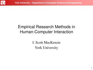 Empirical Research Methods in Human-Computer Interaction