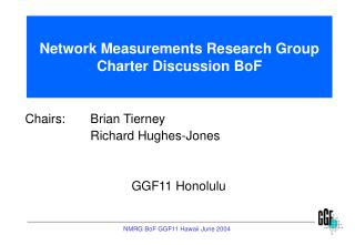 Network Measurements Research Group Charter Discussion BoF