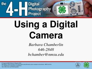 Using a Digital Camera