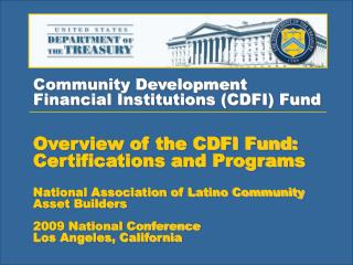 Community Development  Financial Institutions (CDFI) Fund