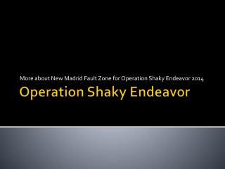 Operation Shaky Endeavor