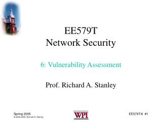 EE579T Network Security 6: Vulnerability Assessment