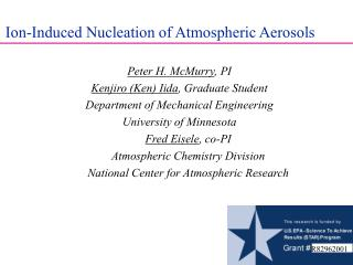 Ion-Induced Nucleation of Atmospheric Aerosols