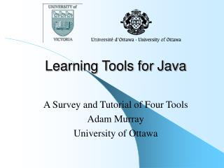 Learning Tools for Java