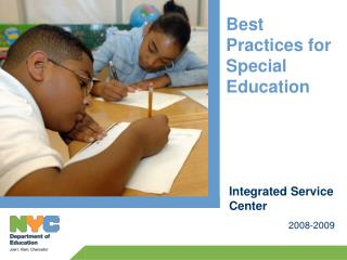 Best Practices for Special Education 2008-2009