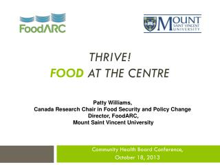 ThrivE !  Food at the centre