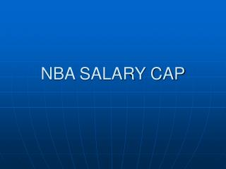 NBA SALARY CAP