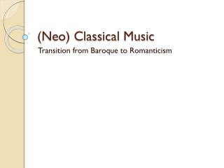 (Neo) Classical Music