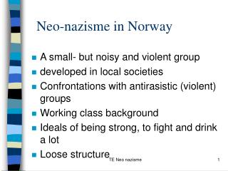 Neo-nazisme in Norway