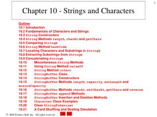 Chapter 10 - Strings and Characters