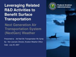 Leveraging Related R&D Activities to Benefit Surface Transportation
