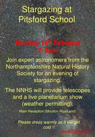 Stargazing at Pitsford School