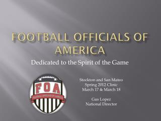 Football Officials of America
