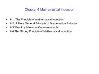 Chapter 6 Mathematical Induction
