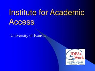 Institute for Academic Access